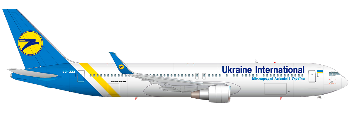 UIA Fleet – Ukraine International Airlines (UIA) (Ukraine)